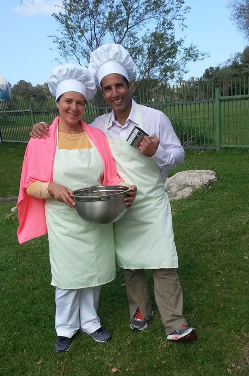 Tal Ami - Acting as Chef figureheads for a Keshet promo